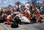 """IndyCar Champion"" Nigel Mansell von Alan Fearnley."